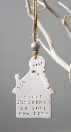 Personalised handmade gift for Christmas Personalised Gifts Handmade, Personalised Christmas Decorations, Christmas Baubles, Christmas Gifts, Xmas, First Christmas, Wooden Beads, Tree Decorations, Shake