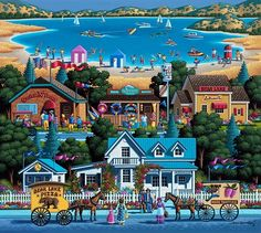 Bear Lake Americana & Folk Art Jigsaw Puzzle