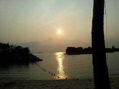 Sunset at the Sentosa Island