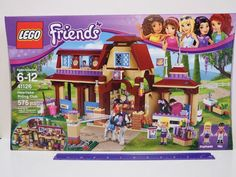 Let your young equestrian's imagination run free with the LEGO Friends Heartlake Riding Club Building Set. Your young horse lover can flex their architectural side by building the two-story stable building, complete with two stables, a cafeteria and a trophy display. | eBay!