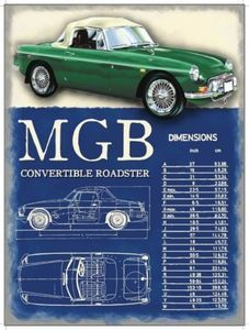 MG MGC Roadster 1967, Classic British Sports Car, Small Metal/Tin Sign, Picture | eBay