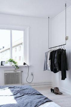 kleiderständer ankleidezimmer selber bauen ideen bügelkleider