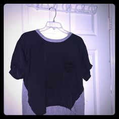 T shirt Black and gray flowy shirt Tops Tees - Short Sleeve