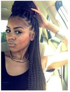 Braids With Bead Embellishments - 40 Best Big Box Braids Hairstyles Dookie Braids, Big Box Braids, Medium Box Braids, Box Braids Styling, Long Braids, Brown Box Braids, Box Braids Updo, Bun Updo, Box Braids Hairstyles