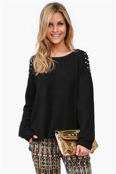 Spiked Knit Sweater