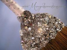 Crystal Wedding Broom -BEZELED and BLINGED Jumping Broom- Bling Broom. $130.00, via Etsy.