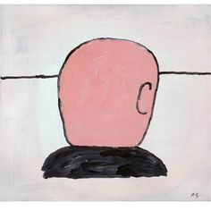 Philip Guston, Head, 1970 I love pretty much everything this man every painted.