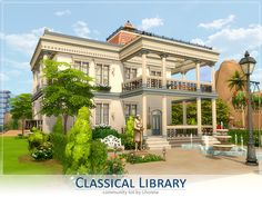 Sims 4 Houses and Lots: Renaissance Library Lot