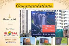 Global Advertisers promotes #Paradigm Realty on #Hoardings #OutdoorCampaign
