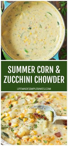 Vegetarian Recipes, Cooking Recipes, Healthy Recipes, Healthy Breakfasts, Healthy Snacks, Summer Corn Chowder, Vegan Corn Chowder, Corn Chowder Soup, Chicken Corn Chowder