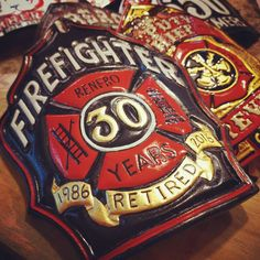 Retirement shield  FF D. Renfro.  Westover Air Force Base DOD FD.  TryWorks…