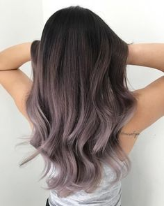 Dark to gray ombré. Dark to gray ombré. Dark to gray ombré. Hair Dye Colors, Ombre Hair Color, Cool Hair Color, Gray Ombre, Purple Grey Hair, Grey Dyed Hair, Balayage Hair Purple, Dark Ombre Hair, Dyed Hair Ombre