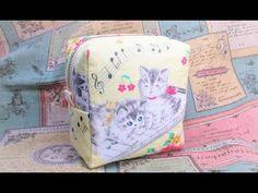ファスナーポーチの作り方マチ付き スクエアポーチ COIN POUCH - YouTube Diy Crafts Tv, Pencil Case Tutorial, Pouch Pattern, Craft Bags, Hip Bag, Bag Making, Needlework, Sewing Projects, Creations