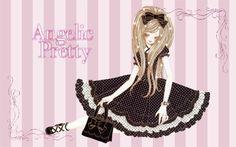 black dress pink bows lolita fashion angelic pretty Art HD Wallpaper