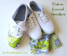 Fabric Covered Sneakers | Give new life to your old sneakers with this project. #DiyReady www.diyready.com