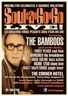 Soul-A-Go-Go Live celebrating 30 years of Vince Peach!