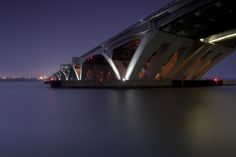The Woodrow Wilson Memorial Bridge (also known as the Wilson Bridge) is a bascule bridge that spans the Potomac River between the independent city of Alexandria, Virginia, and Oxon Hill in Prince George's County, Maryland, USA