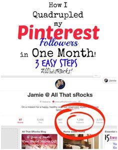 Gain Pinterest Followers with 3 Easy Steps | AllThatSrocks.com Love this, especially the Thank-you to repinners, great idea!