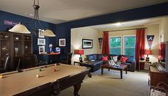 Looking for a luxury home in Atlanta? John Wieland Homes & Neighborhoods, Atlanta's Leading Luxury Home Builder, has built new homes for years. Luxury Homes In Atlanta, Game Room Basement, Basement Ideas, Basement Paint Colors, House Yard, New Home Builders, New Home Designs, New Homes For Sale, Dream Decor