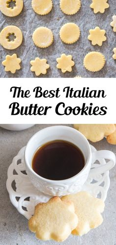 A buttery simple Italian Cookie. This is the easiest butter cookie recipe! Serve this easy cookie recipe as a holiday cookie or with tea or coffee in the afternoon. Try making these easy Italian Butter Cookies for afternoon tea, or anytime! #buttercookies #cookies Italian Butter Cookies, Butter Cookies Recipe, Easy Sugar Cookies, Yummy Cookies, Creative Desserts, Easy Desserts, Delicious Desserts, Bar Recipes, Easy Cookie Recipes
