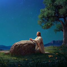 Jesus betet im Garten Gethsemane Jesus Christ Painting, Jesus Art, God Jesus, Bible Photos, Bible Images, Pictures Of Jesus Christ, Religious Pictures, Mary Magdalene And Jesus, Jesus Photo