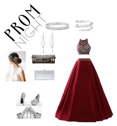 """Prom night"" by r2020e ❤ liked on Polyvore featuring Brides & Hairpins, Jimmy Choo, Urban Decay, Diane Kordas and Anne Sisteron"