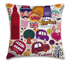 London (capa para almofada 40cm x 40cm) R$39,00 Frete único pra todo Brasil. Pedidos: contato.moofa@gmail.com