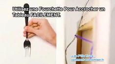 une fourchette sert à accrocher facilement un tableau