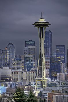 The Space Needle and downtown, Seattle, Washington