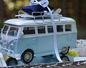 Beach Wedding VW Bus with Surfboards Ring Bearer Pillow