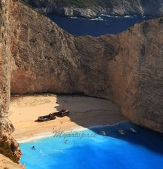 Shipwreck Greek Island print Fine art photography by Myartspace, $20.00 on etsy     Navagio Beach, or the Shipwreck, is an exposed cove, often referred to as 'Smugglers Cove', on the coast of Zakynthos, in the Ionian Islands, and the famous smugglers ship .
