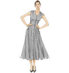 swoon! V8577 Misses' Dress | Easy - 8-10-12-14