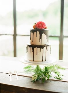 Cakes  two tier chocolate dripping ganache