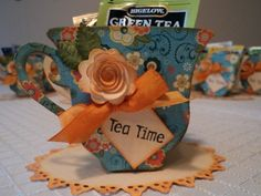 Tea Cup Shower Favor - This would be fabulous for a wedding shower!