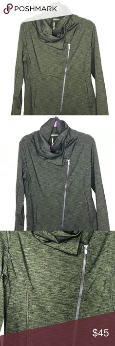 Lucy zip up jacket size large Lucy jacket for pre & post-workout or just on the go! Dark green, size large, like new - only wore a few times. No visible signs of wear. Lucy Jackets & Coats