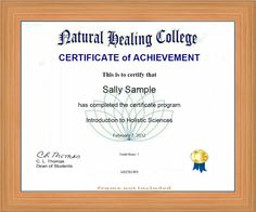 Being conversationally literate on the vast range of healing and wellness practices prepares you for a rewarding future as a holistic professional as well as for the immediate future.    http://www.naturalhealingcollege.com/