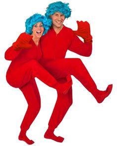 Blue Hair Costume Wig, Thing 1 Thing 2 Blue Wig Costume Kit
