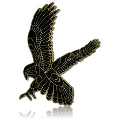 Custom x Inch} 1 of Sew-On, Glue-On & Iron-On Patch w/ Bald Eagle Hawk Bird Animal Flying Hunt Soft Velvet Velour Style [Gold Black] Cool Patches, Sew On Patches, Iron On Patches, Eagle Hunting, Hawk Bird, Tactical Helmet, Cotton Polyester Fabric, Plate Carrier, Holiday Tree