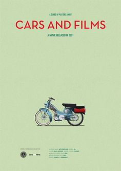 Poster of Amelie motorcycle. Illustration Jesús Prudencio - Cars and motor Movie Poster Art, Poster Series, Tv Series, Cult Movies, Films, Minimal Movie Posters, Dramas, Car Illustration, Car Posters
