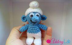 Valery Lab - handmade & crochet: Smurf amigurumi - come realizzare un Puffo all'uncinetto SCHEMA GRATUITO - FREE PATTERN