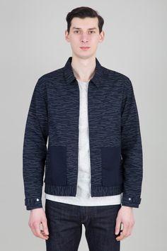 Detach Pocket Jacket - Matchstick print - Bright Navy