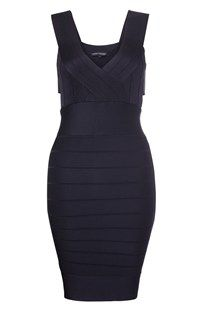 Spotlight Knits Side Strap Black Dress - the perfect little black dress for an evening out!