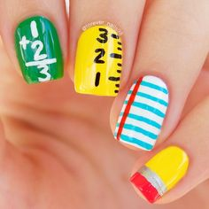 Equations | DIY Back to School Nails for Kids