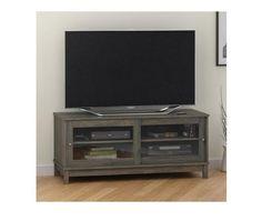 "TV Stand Cabinet Console Entertainment Media Center DVD Storage 55"" RUSTIC OAK  #AIMS #Contemporary"