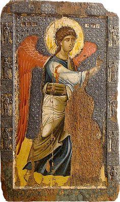St Michael, Macedonië,The Eastern Orthodox Saints Byzantine Art, Byzantine Icons, Religious Icons, Religious Art, Russian Icons, Image Icon, Saint Michel, Archangel Michael, Orthodox Icons