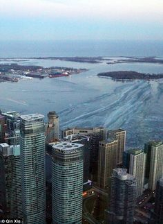 AM to PM: There's 360 degree views of Toronto from the La Tour CN Tower, including the cit...