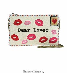 Mary Frances Sealed With A Kiss Clutch