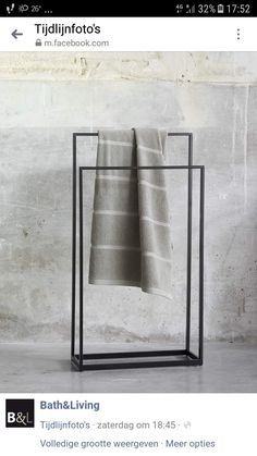 Towel rack at Bath & Living The dimensions are 45 x 20 cm, height 83 cm Hartel … - Wall Decor