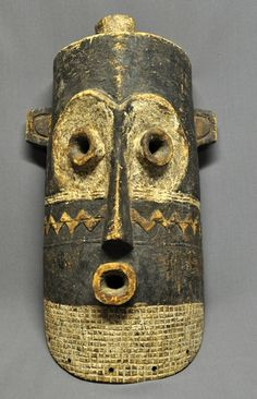 Africa | Mask from the Pende people of DR Congo | Wood and pigment