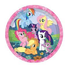 My Little Pony Plates 8 Per Pack #MyLittlePony